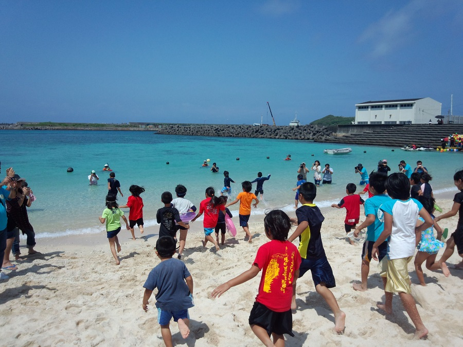 開き 沖縄 海