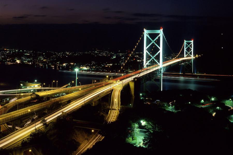 関門海峡ぐるっと夜景バス 宿泊者限定に夜景バスを運行/北九州 ...