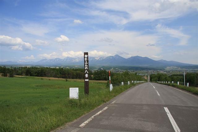 パノラマロード江花|富良野岳まで続く直線道路の先に長閑な景色が待っている | たびらい