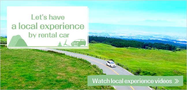 Let's have a local experience by rental car